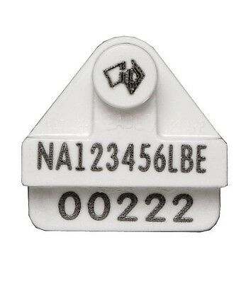 10X NLIS Leadertronic Electronic Identification Cattle Ear Tags HDX RFID