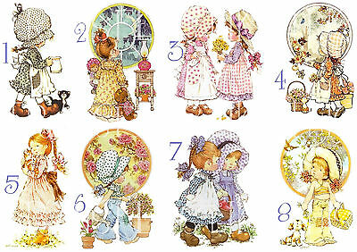Sarah Kay Sticker /Autocollant Ou Transfert Textile Vetement Tshirt Holly Hobbie