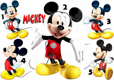 Mickey Mouse Sticker Autocollant Mural Ou Transfert Textile Vetement T-Shirt