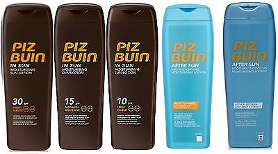 Any 2 Piz Buin IN SUN LOTION SPF 30 20 15 10 6  or Tan Intensifier  Aftersun