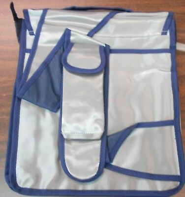 KMS Silver & Blue All Purpose Large SHOULDER TOTE BAG for Styling Utilities