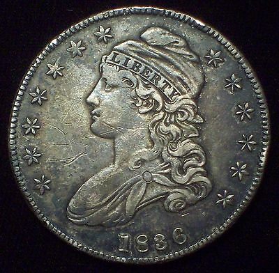 1836 BUST HALF DOLLAR *SILVER* O-120 Rarity 4 *RARE* Strong XF+ in Detail R-4