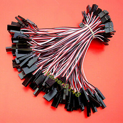 100pcs 15cm RC Servo extension cord lead Cable 26awg wire For Futaba