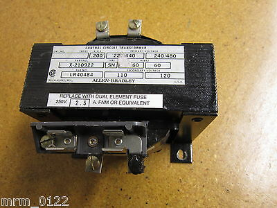 Allen Bradley X-210922 Type SN Transformer 220/440 240/480V 50/60Hz Gently Used