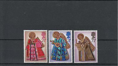 GB 1972 MNH Christmas SG#913-5 Angel Playing Trumpet Lute Harp Stamps