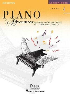 PIANO ADVENTURES Lesson Book Level 4 *NEW* 2nd Edition Music Tuition Faber