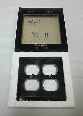 Blue Chip 701-11 Beveled Genuine BLACK MARBLE Switch Plate NEW in box!!