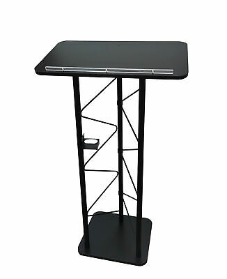 Truss metal wood podium pulpit lectern church school restaurant reception 11566
