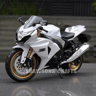 Diecast Motorcycle Model Toys 1:12 Suzuki Gsx R1000 Sport Bike Replica