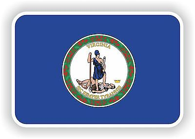 Virginia Flag Sticker usa United States Bumper decals Motorcycle Car Helmet Auto