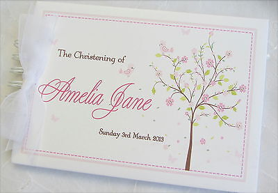 Personalised *blossom Tree* Christening* Naming Day Scrapbook*guest Book Album