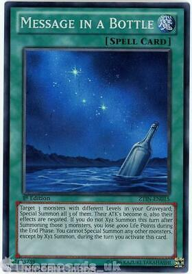 ZTIN-EN015 Message in a Bottle Super Rare 1st Edition Mint YuGiOh Card