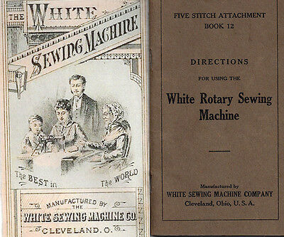 WHITE Rotary Sewing Machine 1927 Manual CD in pdf format