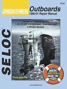 Seloc Johnson/Evinrude Outboards 1.25-70 HP,  1990-01 Repair Manual   1312