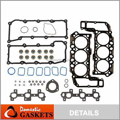 02-05 Dodge Ram Durango Dakota Jeep Liberty 3.7L SOHC MLS Head Gasket Set VIN K