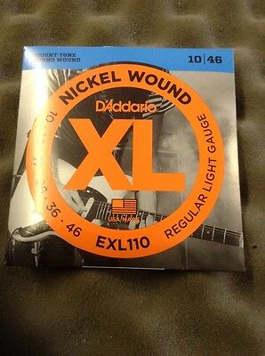 D'Addario Nickel Wound Electric Guitar Strings EXL 110 10/46 From Guitars Wales