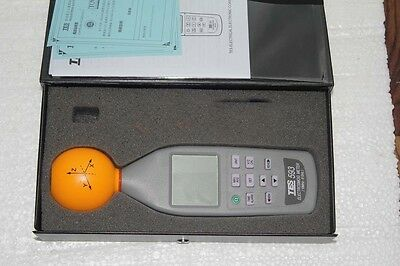 TES-593 3 axis ElectroSmog Meter Frequency EMF safety tester 10Mhz 8.0GHz 3 chs