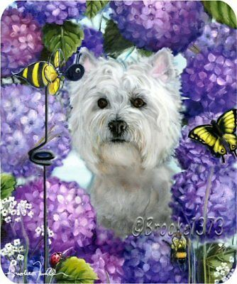 Westie mousepad WEST HIGHLAND TERRIER dog ART mouse pad
