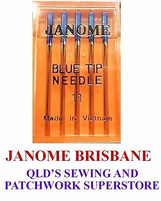Janome BLUE TIP Needles Embroidery / Decor Size 75/11 1Pkt Of 5