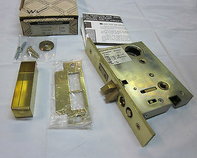 Baldwin 6001.030 Lock Right Handed POLISHED BRASS NEW in box!