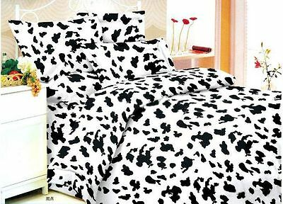 Milk Cow Quilt Doona Duvet Cover Single/Queen/Double/King Size Bed Fitted Sheets