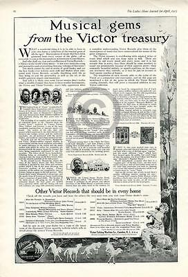 1912 Musical Gems Victor Records Talking Machine Company Ad, Caruso,Santelman