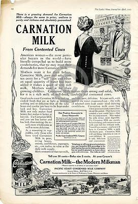 1912 Carnation Milk From Contented Cows Modern Milkman Ad