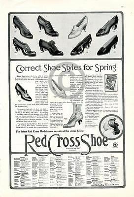 1912 Red Cross Shoes Women's Correct Styles Spring Ad