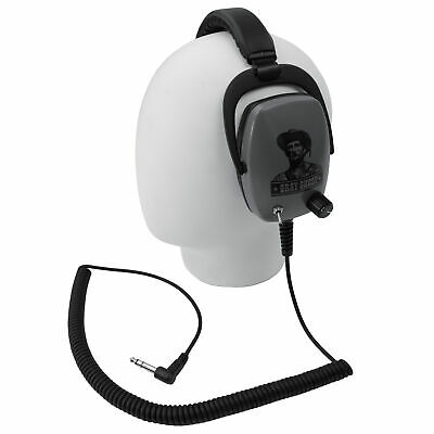 """DetectorPro Rattler One-Sided Headphoneswith 1/4"""" Angle Plug for Metal Detector"""