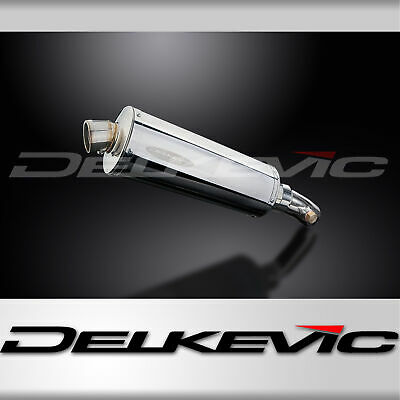 STAINLESS STUBBY OVAL 350mm SILENCER EXHAUST KAWASAKI KLE650 VERSYS 650 06-14