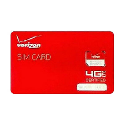 New Lot of Five(5) Verizon Wireless 4G LTE Micro  Sim Card  3FF- Smaller Version