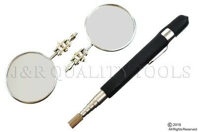 2 pc. INSPECTION MIRROR SET WITH REPLACEMENT MIRROR 30 1/2 TELESCOPING ACTION