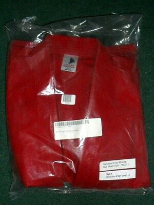 NIP Century Martial Arts MMA Red Middleweight Traditional Jacket Size 1 New