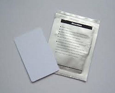 "Dollar Bill Validator Acceptor Cleaning Cards ""Alcohol Free"" 10 Per Pack"