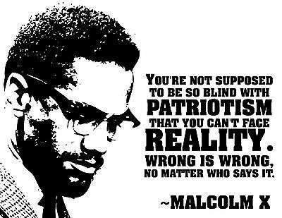 Malcolm X - Beautiful Poster  Print - Looks Awesome Framed