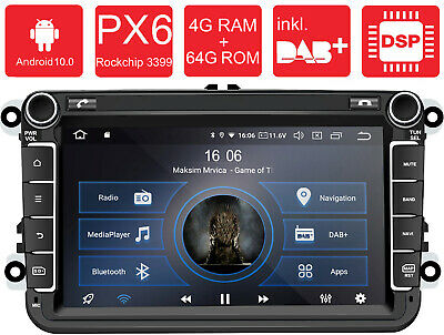 AV8V5: Android 9.0 Autoradio Naviceiver Moniceiver VW Seat Skoda IPS DAB