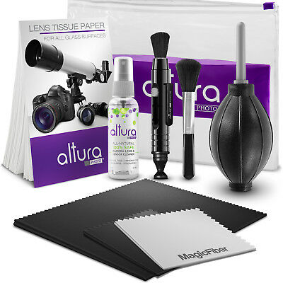 Altura Photo® Camera Cleaning Kit with Lens Solution Spray, Lens Pen and Blower