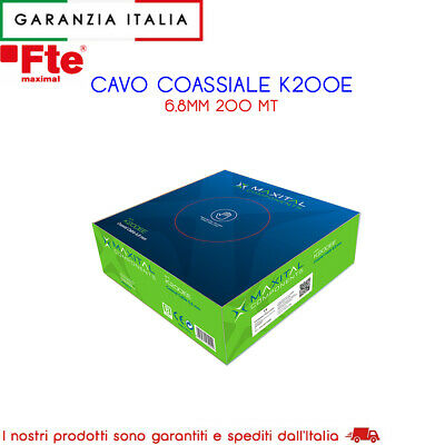 Cavo Antenna Coassiale 6.8Mm Per Tv Terrestre E Sat. Pvc Bianco  200Mt  K200E