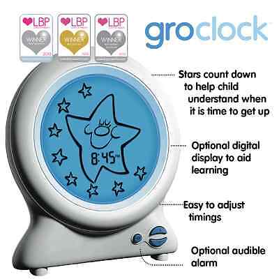 Gro Clock SleepTrainer Night Light and Story Book White this is Updated Version