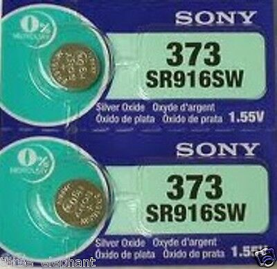 2 New SONY SR916SW Silver Oxide 1.55v Watch Batteries MADE in JAPAN Aussie Stock