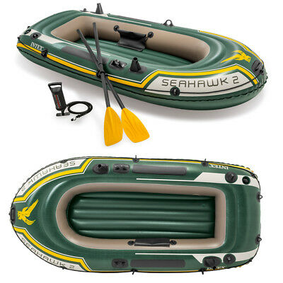 INTEX Seahawk 2 Set Schlauchboot+Paddel+Pumpe Angelboot Ruderboot für 2 Personen