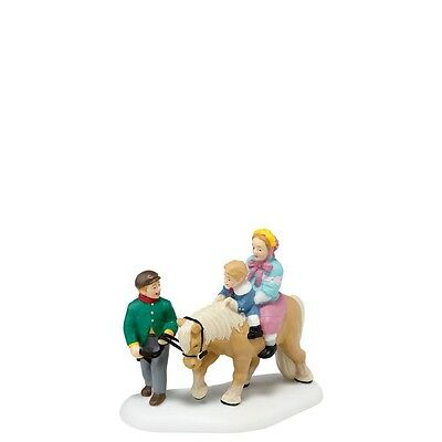 Dept 56 Dickens HOLD ON TIGHT Child with Pony NEW! NIB