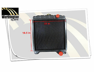 """A172038 Tractor Radiator Case 19.5"""" H x 20"""" W 3 Rows"""