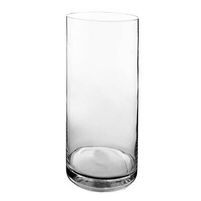 "Cylinder Vase. Clear Glass. H-22"", D-8"". Brand New (1 pc), Floral Arrangement"