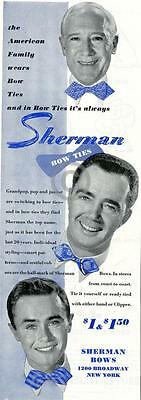 1944 Sherman Bow Ties Ad