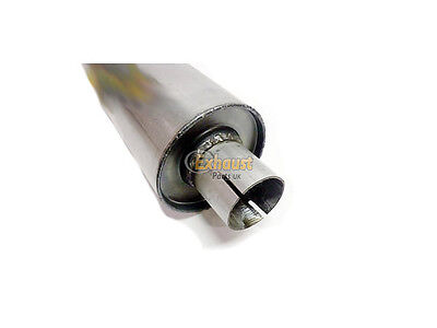 """Universal Exhaust Mild Steel Silencer, 4"""" Dia, 51mm - 2"""" - 12"""", Clamp-On"""