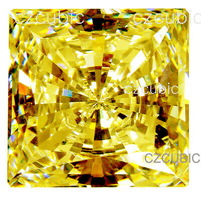 Cubic Zirconia Super Quality Loose Square Stone 7Star Yellow Color Cz Usa Shiper