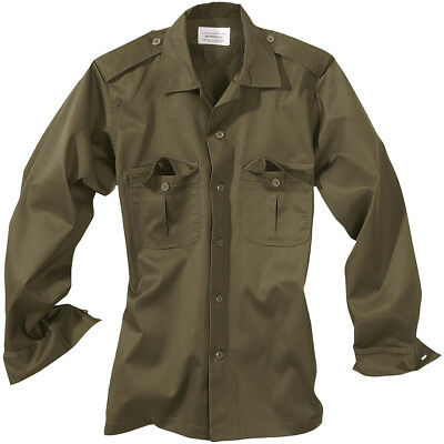 Military Tactical Combat Army Mens Shirt Surplus Patrol Long Sleeved Olive S-Xxl