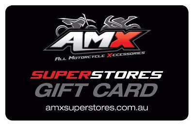 AMX Superstores outlets all motorcycle accessories Victoria GIFT VOUCHER $50