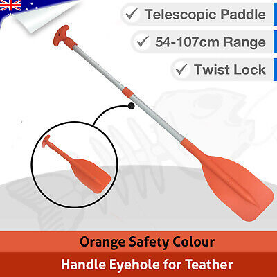 1 x Adjustable Telescopic Oar Paddle, Boat Canoe Extendable Kayak Safety Paddles